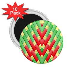 Christmas Geometric 3d Design 2 25  Magnets (10 Pack)