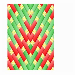 Christmas Geometric 3d Design Large Garden Flag (two Sides)