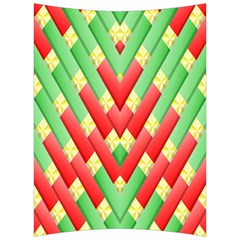 Christmas Geometric 3d Design Back Support Cushion