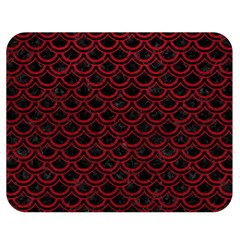 Scales2 Black Marble & Red Leather (r) Double Sided Flano Blanket (medium)