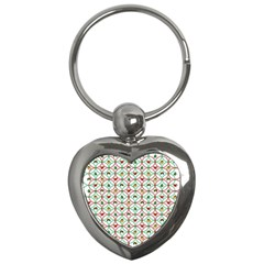 Christmas Decorations Background Key Chains (heart)