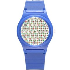 Christmas Decorations Background Round Plastic Sport Watch (s)