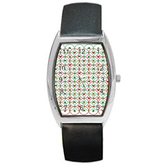 Christmas Decorations Background Barrel Style Metal Watch