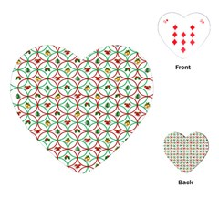 Christmas Decorations Background Playing Cards (heart)