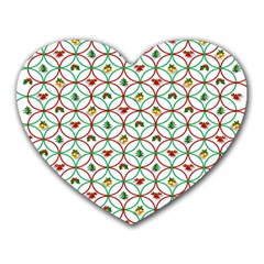 Christmas Decorations Background Heart Mousepads