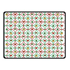 Christmas Decorations Background Double Sided Fleece Blanket (small)
