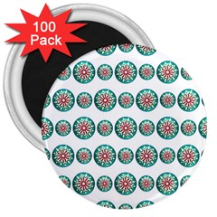 Christmas 3d Decoration Colorful 3  Magnets (100 Pack)