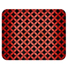 Circles3 Black Marble & Red Brushed Metal (r) Double Sided Flano Blanket (medium)