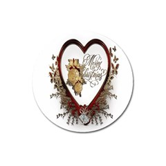 Christmas D¨|cor Decoration Winter Magnet 3  (round)