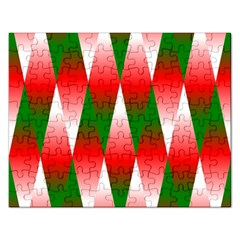 Christmas Geometric Background Rectangular Jigsaw Puzzl