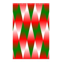 Christmas Geometric Background Shower Curtain 48  X 72  (small)