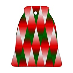 Christmas Geometric Background Bell Ornament (two Sides)