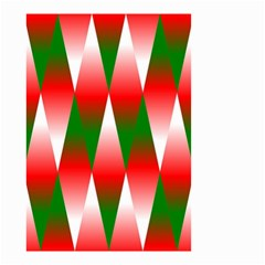 Christmas Geometric Background Small Garden Flag (two Sides)