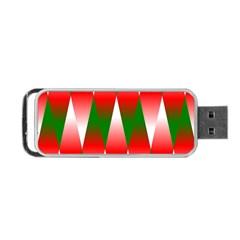 Christmas Geometric Background Portable Usb Flash (two Sides)