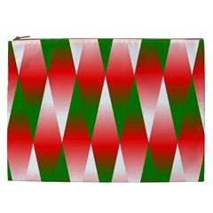 Christmas Geometric Background Cosmetic Bag (xxl)
