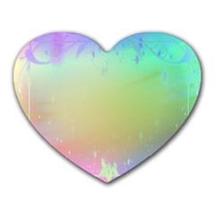 Christmas Greeting Card Frame Heart Mousepads