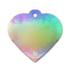 Christmas Greeting Card Frame Dog Tag Heart (two Sides)