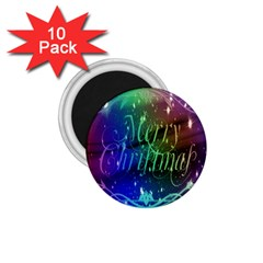 Christmas Greeting Card Frame 1 75  Magnets (10 Pack)