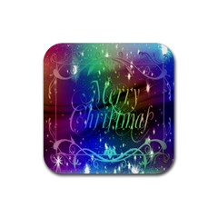 Christmas Greeting Card Frame Rubber Coaster (square)