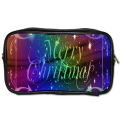 Christmas Greeting Card Frame Toiletries Bags 2 Side
