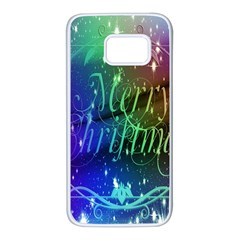 Christmas Greeting Card Frame Samsung Galaxy S7 White Seamless Case
