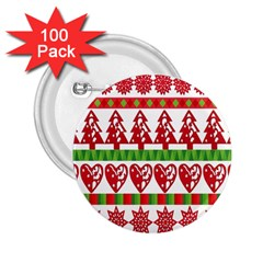 Christmas Icon Set Bands Star Fir 2 25  Buttons (100 Pack)