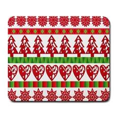 Christmas Icon Set Bands Star Fir Large Mousepads