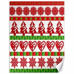 Christmas Icon Set Bands Star Fir Canvas 18  X 24