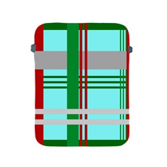 Christmas Plaid Backgrounds Plaid Apple Ipad 2/3/4 Protective Soft Cases