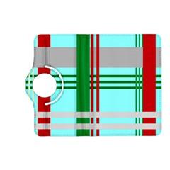 Christmas Plaid Backgrounds Plaid Kindle Fire Hd (2013) Flip 360 Case
