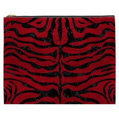 Skin2 Black Marble & Red Leather Cosmetic Bag (xxxl)