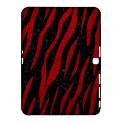 Skin3 Black Marble & Red Leather (r) Samsung Galaxy Tab 4 (10 1 ) Hardshell Case