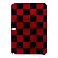 Square1 Black Marble & Red Leather Samsung Galaxy Tab Pro 12 2 Hardshell Case