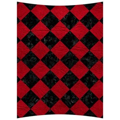 Square2 Black Marble & Red Leather Back Support Cushion