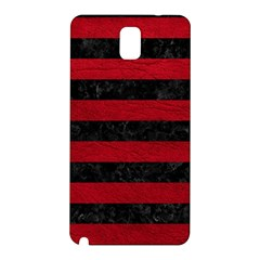 Stripes2 Black Marble & Red Leather Samsung Galaxy Note 3 N9005 Hardshell Back Case