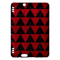 Triangle2 Black Marble & Red Leather Kindle Fire Hdx Hardshell Case