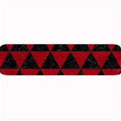 Triangle3 Black Marble & Red Leather Large Bar Mats