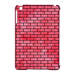 Brick1 Black Marble & Red Watercolor Apple Ipad Mini Hardshell Case (compatible With Smart Cover)