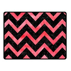 Chevron9 Black Marble & Red Watercolor (r) Fleece Blanket (small)