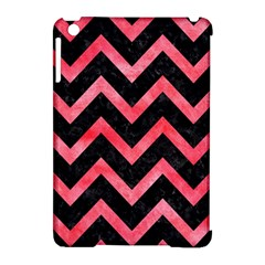 Chevron9 Black Marble & Red Watercolor (r) Apple Ipad Mini Hardshell Case (compatible With Smart Cover)