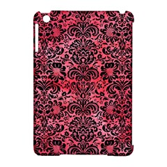 Damask2 Black Marble & Red Watercolor Apple Ipad Mini Hardshell Case (compatible With Smart Cover)