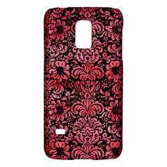 Damask2 Black Marble & Red Watercolor (r) Galaxy S5 Mini
