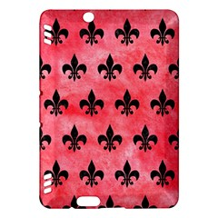 Royal1 Black Marble & Red Watercolor (r) Kindle Fire Hdx Hardshell Case