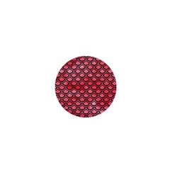 Scales2 Black Marble & Red Watercolor 1  Mini Buttons