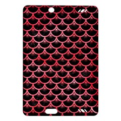 Scales3 Black Marble & Red Watercolor (r) Amazon Kindle Fire Hd (2013) Hardshell Case