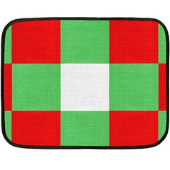 Fabric Christmas Colors Bright Double Sided Fleece Blanket (mini)