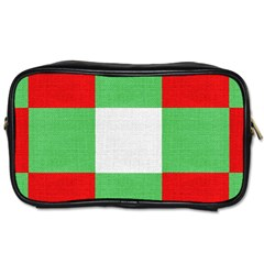 Fabric Christmas Colors Bright Toiletries Bags