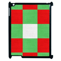 Fabric Christmas Colors Bright Apple Ipad 2 Case (black)
