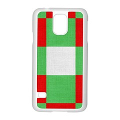 Fabric Christmas Colors Bright Samsung Galaxy S5 Case (white)