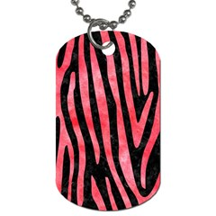 Skin4 Black Marble & Red Watercolor Dog Tag (one Side)